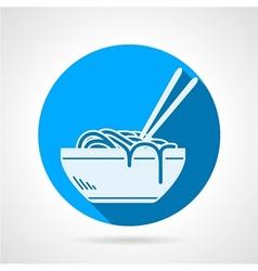 Ramen flat round icon vector image