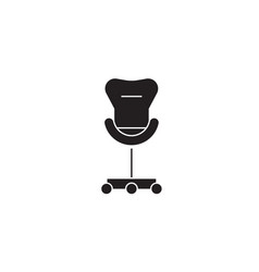 rolling chair black concept icon rolling vector image