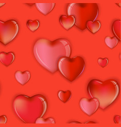 seamless hearts pattern background valentines day vector image