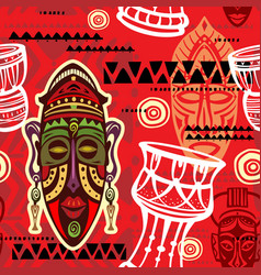 Seamless pattern with ethnic background vector