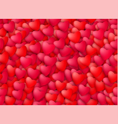 seamless realistic hearts background love vector image