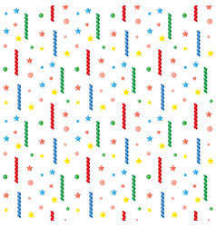 serpentine tinsel sequins confetti pattern vector image