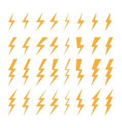 Set a few types thunder lightning flash vector