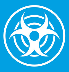 Sign biological threat icon white vector