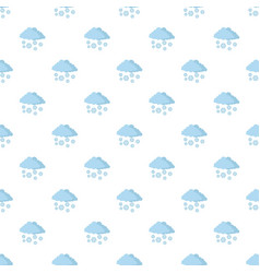 snow cloud holiday pattern seamless vector image