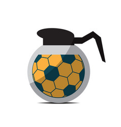 Soccer coffee pot sport flat design icon vector