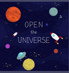 space background square vector image