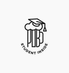 Student pub logo vector