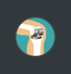 Symbol of knee replacement knee replacement logo vector
