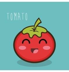 tomato fresch facial expression design graphic vector image