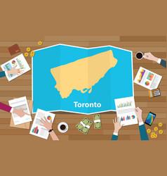 Toronto ontario city region economy growth with vector