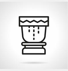 Tropical drum simple line icon vector