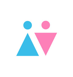 two icons male and female gender signs men and vector image