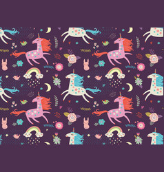 Unicorn pattern vector