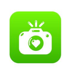 wedding photography icon green vector image