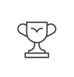 winner cup line icon or trophy concept vector image