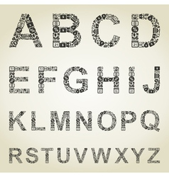 Alphabet business vector image vector image