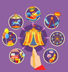 amusement park collection vector image vector image
