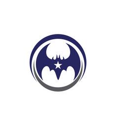 Bat icon logo template vector