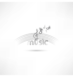 Listen to melody vector image
