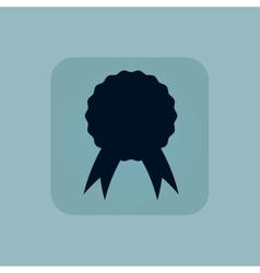 Pale blue certificate seal icon vector image