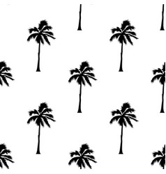 palm tree pattern seamless texture on white vector image vector image