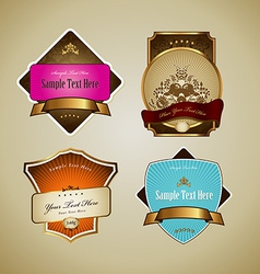 Set of labels with ribbon vector image vector image