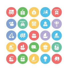 Transport Bold Icons 3 vector image
