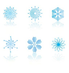beautiful cold crystal gradient snowflakes vector image vector image