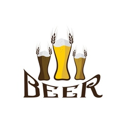glasses with beer vector image vector image