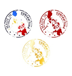 made in Philippines stamp vector image