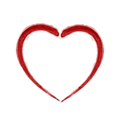 Red Brushed Heart vector image