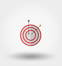 target with an arrow vector image vector image