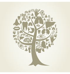 Tree of a part of a body2 vector image vector image