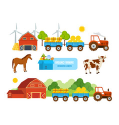 warehouse farmland pets conveying hay wheat vector image vector image
