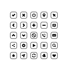 web application navigation interface icon set vector image