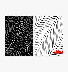 abstract wavy black and vector image