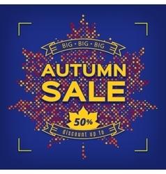 Autumn Sale card design template Fall discount vector image vector image
