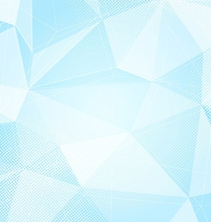 Blue abstract crystal structure dotted hi-tech vector image
