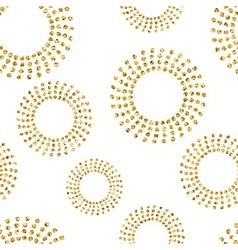 Gold concentric circle seamless pattern 2 white vector image vector image