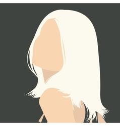 gray portrait vector image vector image