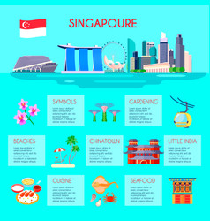 singapore culture infographic vector image vector image