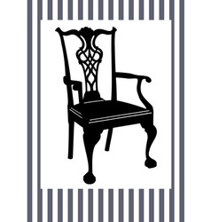 antique chair vector image vector image