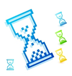 color wait cursor vector image