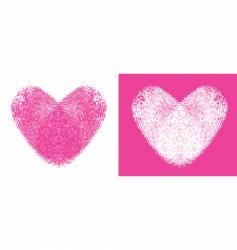 heart thumbprints vector image vector image