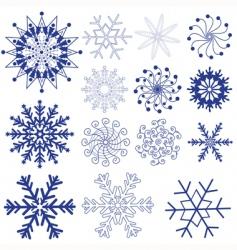 set dark violet snowflakes vector image