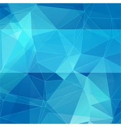 triangular style blue abstract background vector image