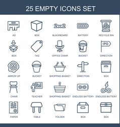 25 empty icons vector