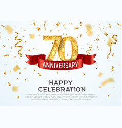 70 years anniversary banner template vector