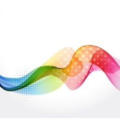 Abstract color wave vector image